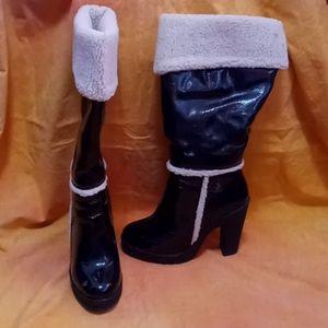 Retro Baby Phat Fur Solara Boots - Size 9